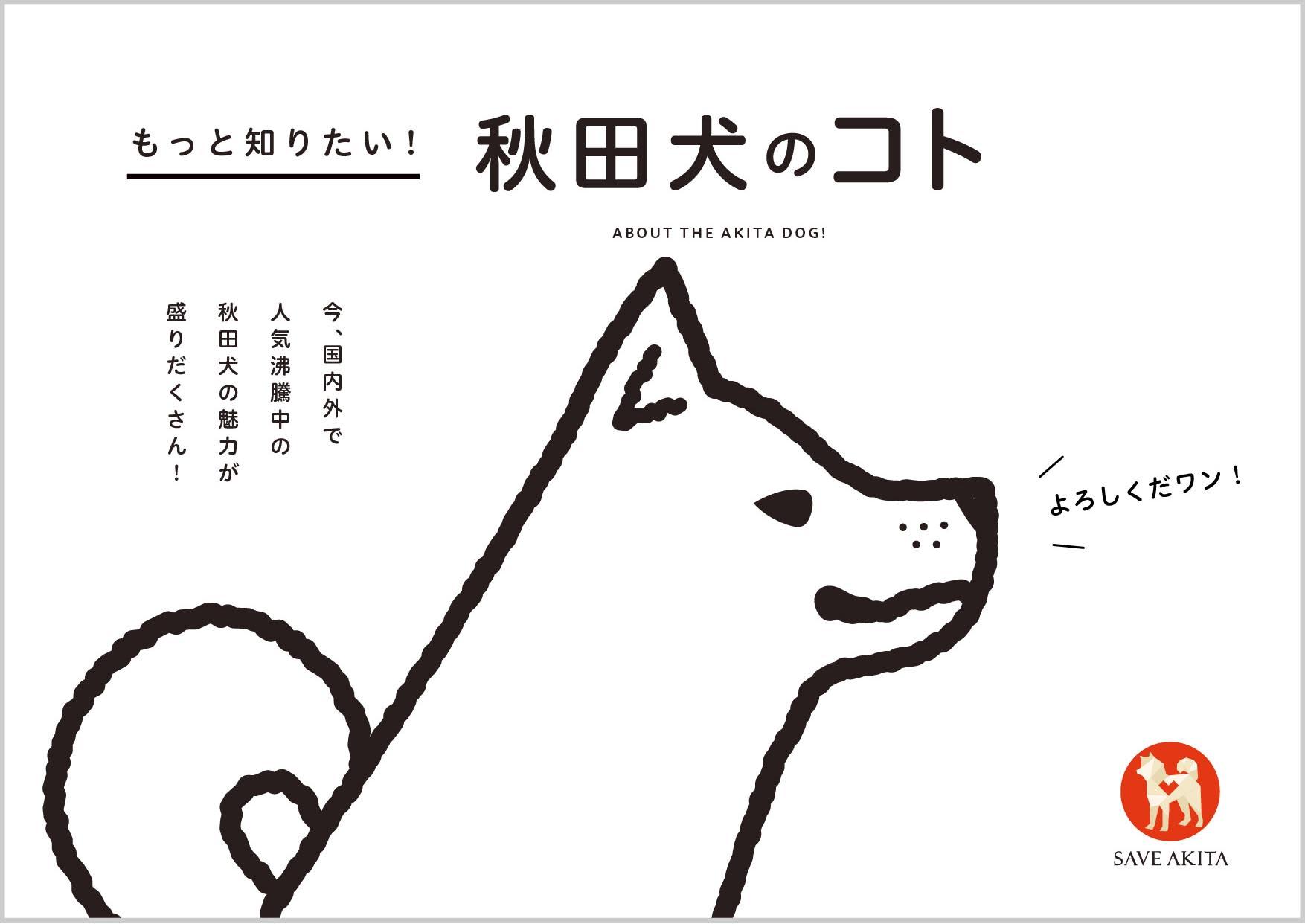 秋田犬のコト、始まりました!
