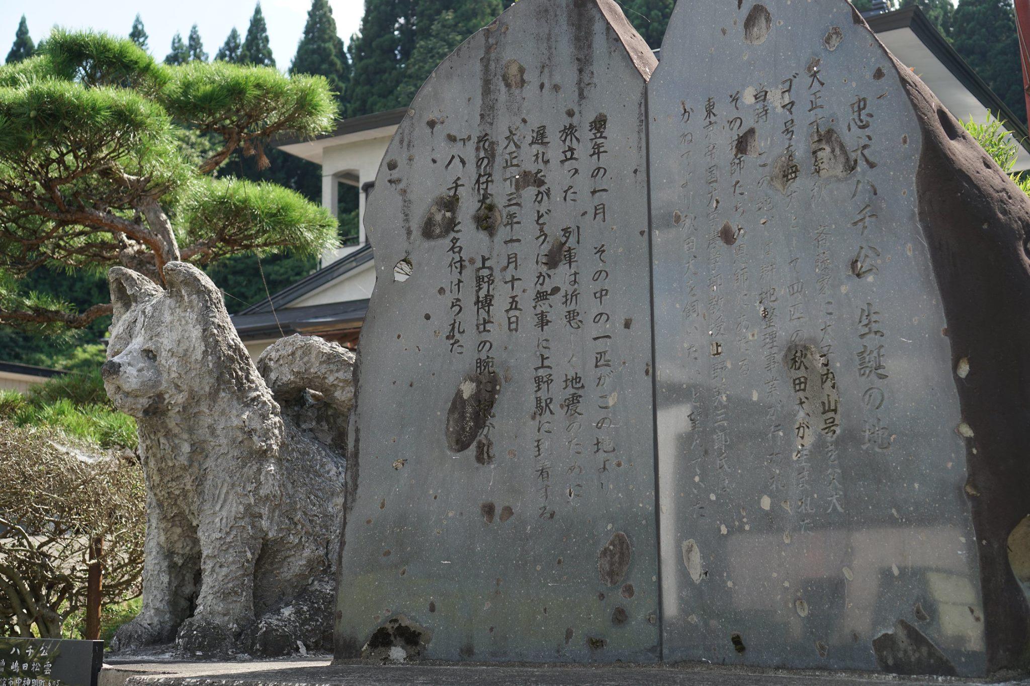 秋田犬の伝説を追って◆ハチ公生誕の地
