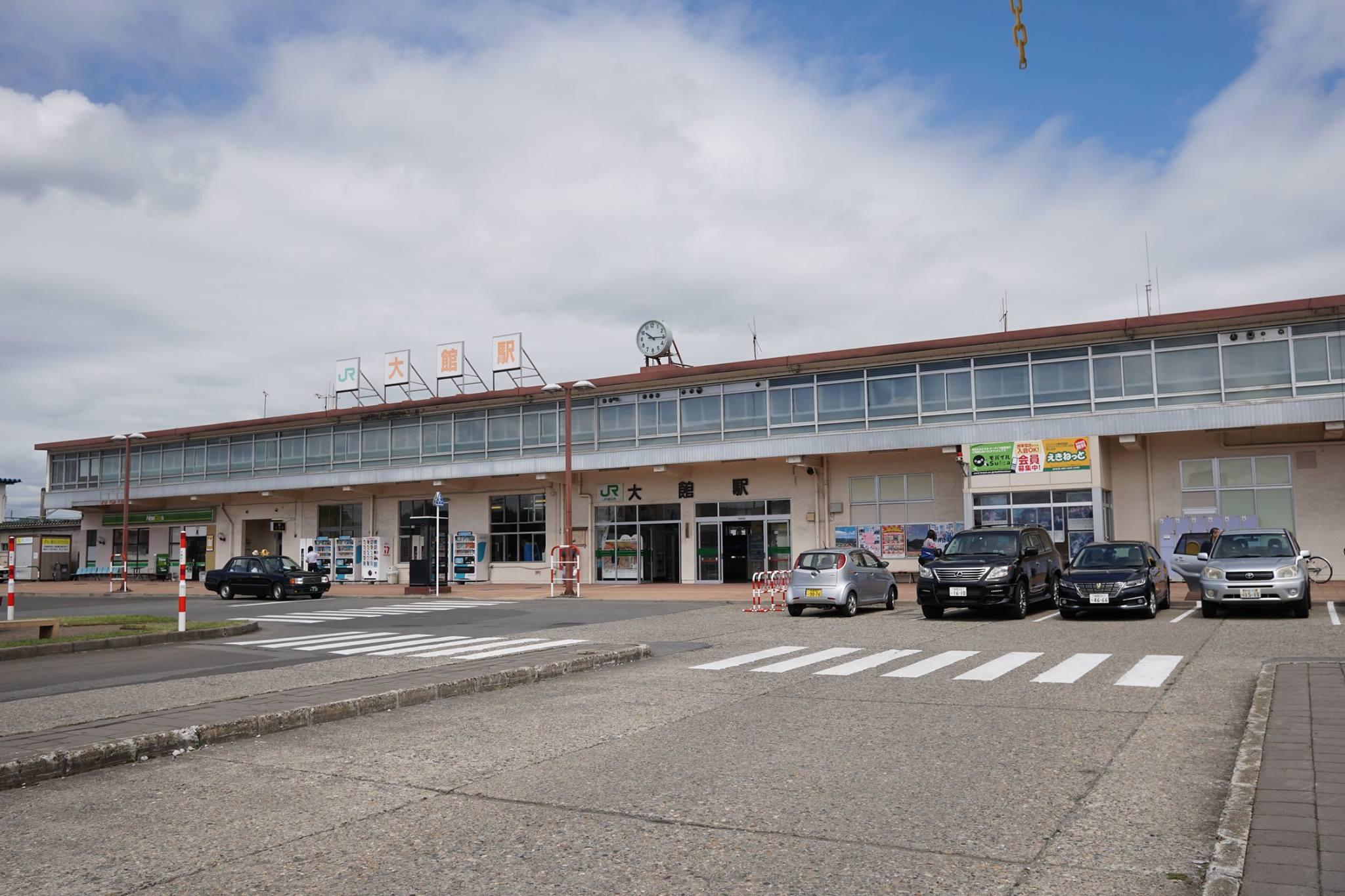 編集部取材日記◆大館駅前の秋田犬